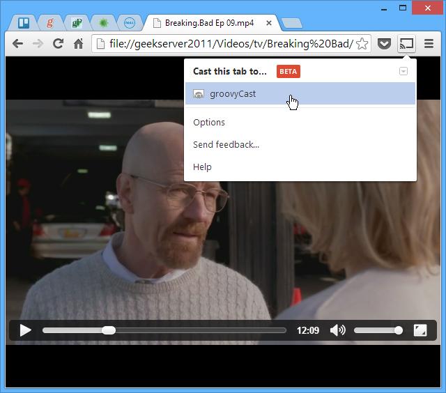Browser-Chromecast