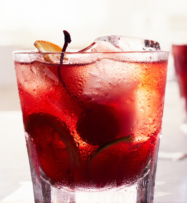 Fruity Old Fashioned whiskey