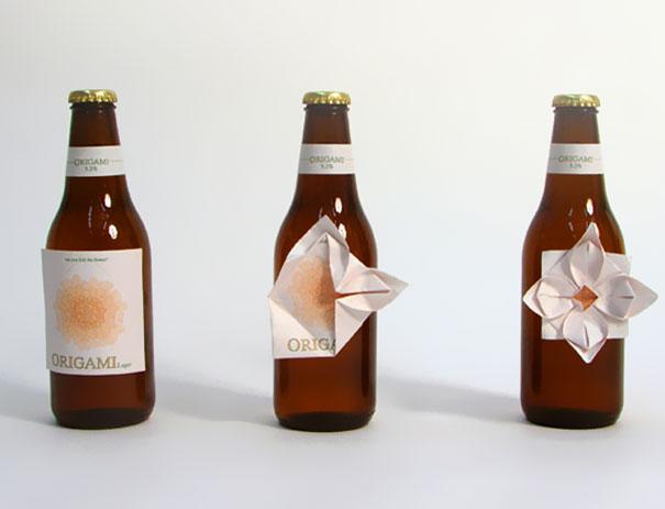 Origami Beer packaging