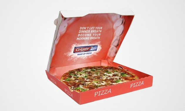 Toothpaste Ad pizaa box Packaging