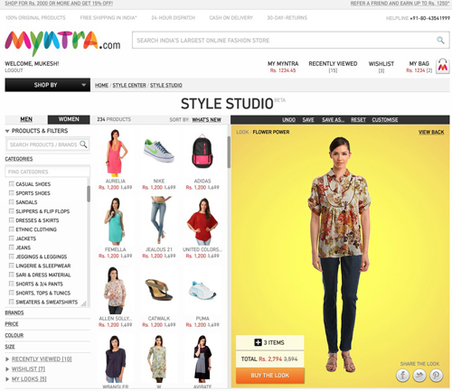 Myntra best Shopping website