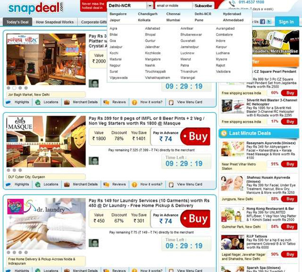 SnapDeal Best Deals Site