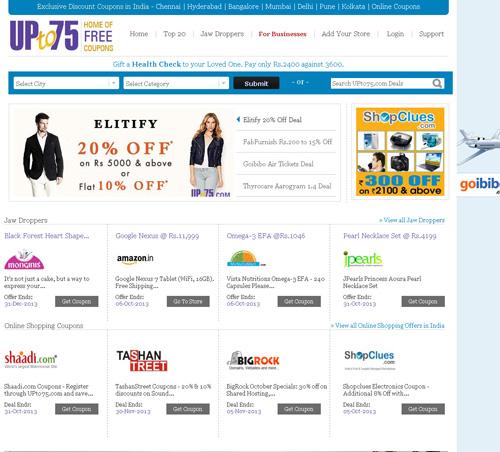 Upto 75 best Site