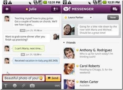 Yahoo! Messenger app
