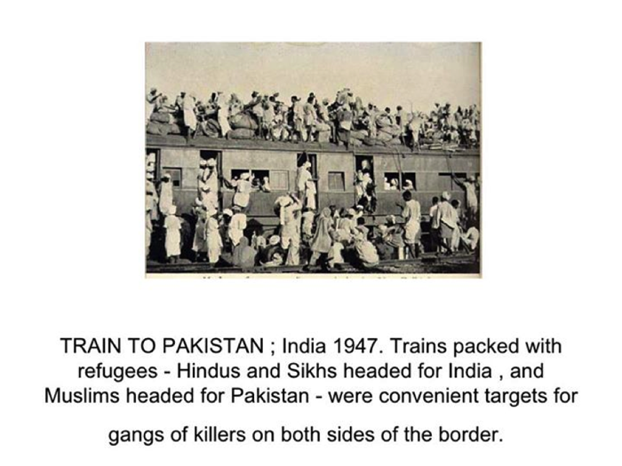 Train packed with refugees to Pakistan