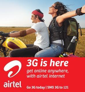 Airtel 3G Plans Service India