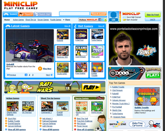 top gaming sites free