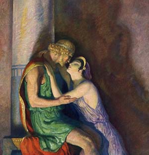 Penelope  and Odysseus, the greatest love story