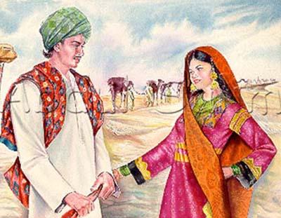 Sassui & Punnuh love story