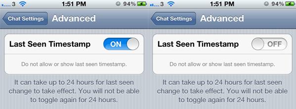 Last-Seen-Timestamp-Setting