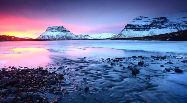 Sunset Grundarfjordur, Icelandm