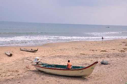 Tranquebar Beach in Tamil Nadu