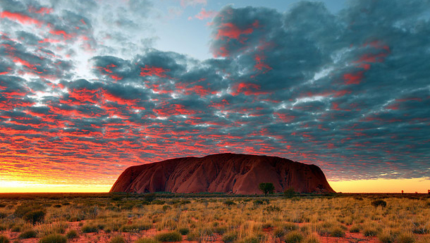 Ayers Rock sunset Australian Outback