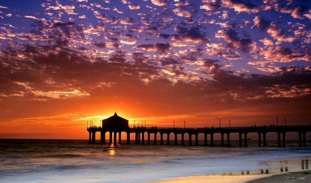 Sunset Santa Monica Pier, Los Angeles