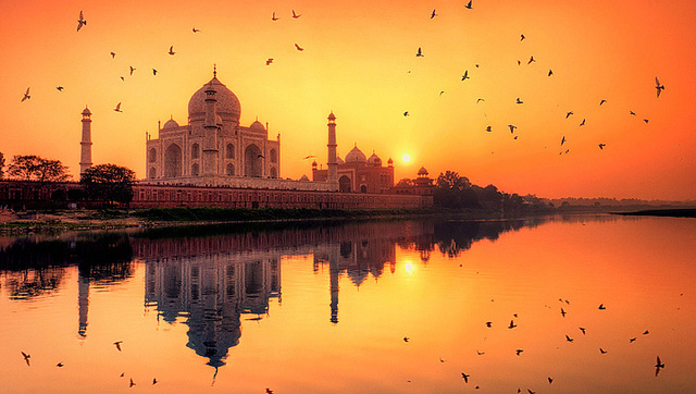 Taj Mahal sunset in India