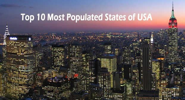 Most Populated States in the USA