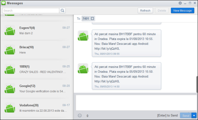 AirDroid-messages