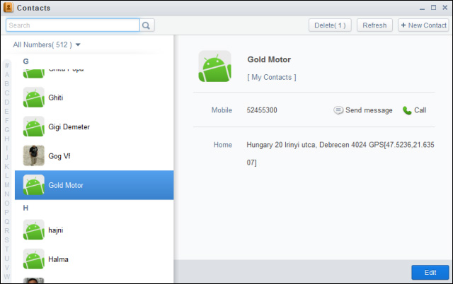 Airdroid-contacts