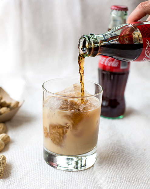 Coke, Peanut and Whiskey Cocktail