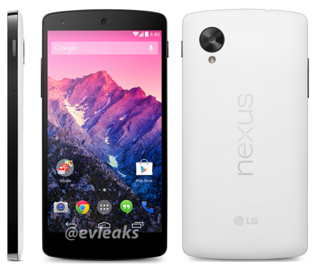 upcoming Nexus 5 smartphone