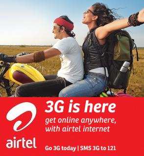 Airtel 3G Plans Service India