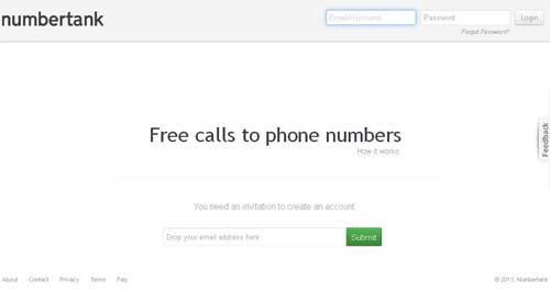 Numbertank Free Call Website