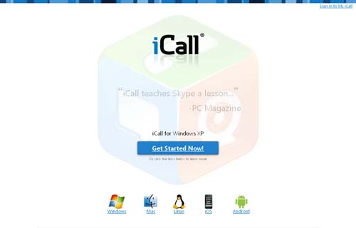 Icall free calling website in India