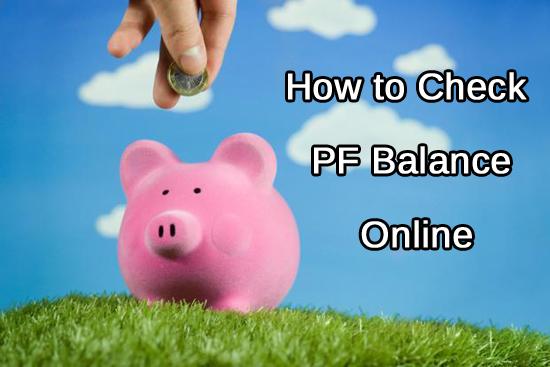 Check PF Balance Online