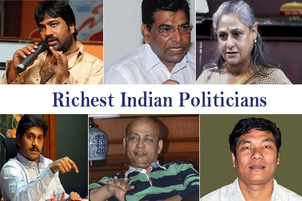 India's richest politicians