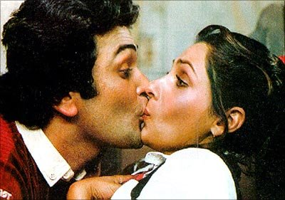 Rishi kapoor and Dimple Kapadia