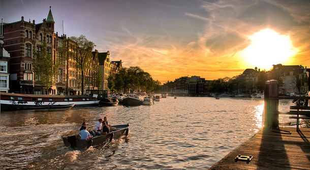 Sunset Canals of Amsterda