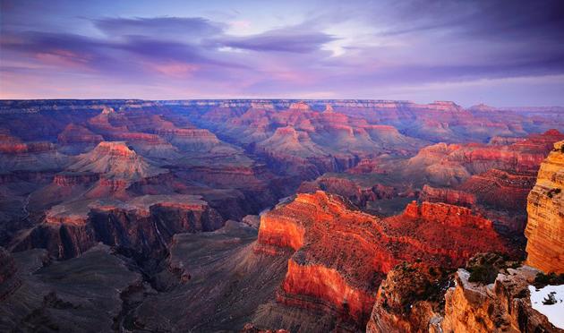 Sunset Grand Canyon in Arizona