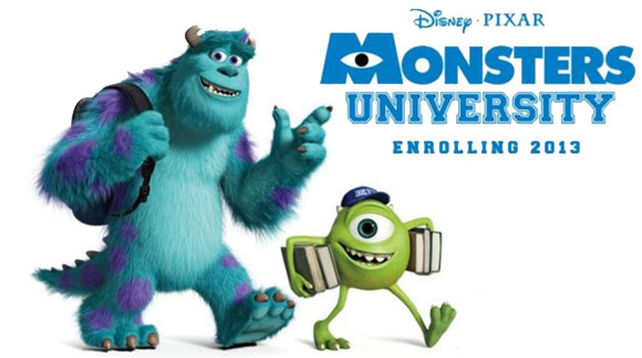 Monsters University 3D movie 2013