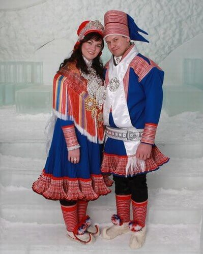 Sami, North Europe weddings costumes