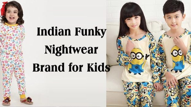 Indian Funky Kids Nightwear Brand, Cute Baby Boys Girls Nightsuits, Sleepwear Online